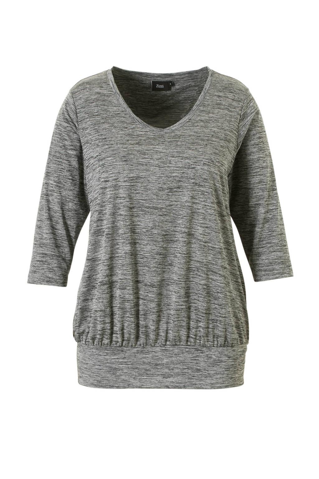 ACTIVE By Zizzi sport T-shirt grijs melange, Grijs melange