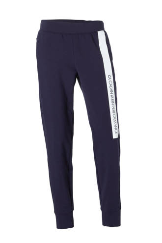 Performance joggingbroek donkerblauw