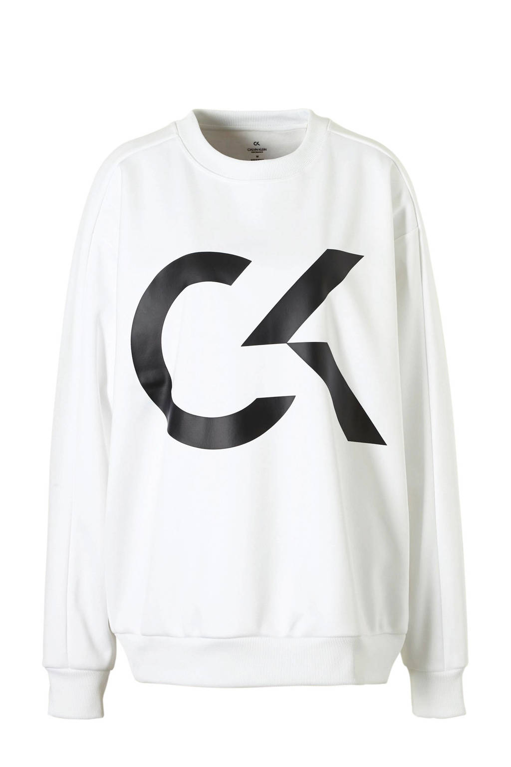 Calvin Klein Performance oversized sweater wit, Wit
