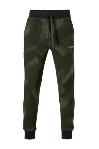 sweatpants all over print groen