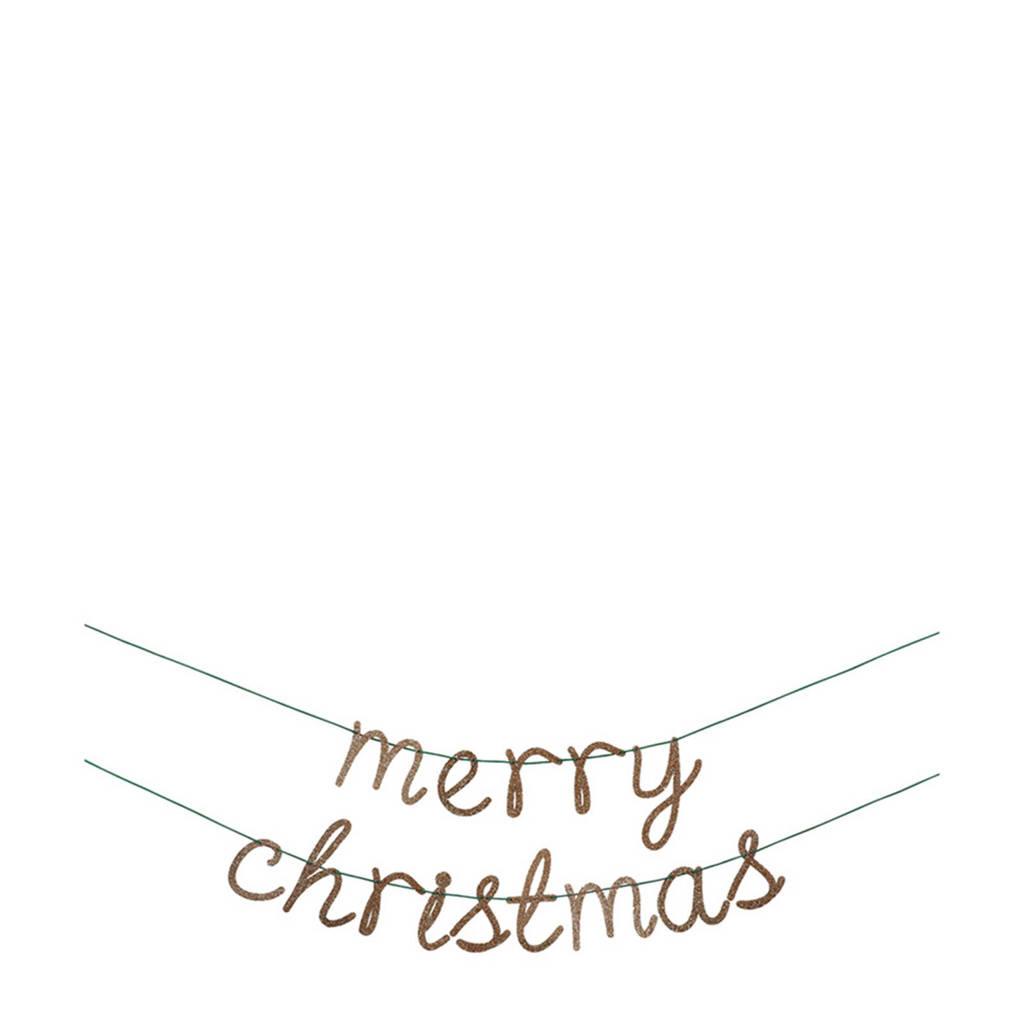 Meri Meri kerstslinger Merry Christmas, Goud