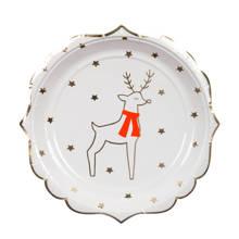 papieren borden kerst (set van 8)