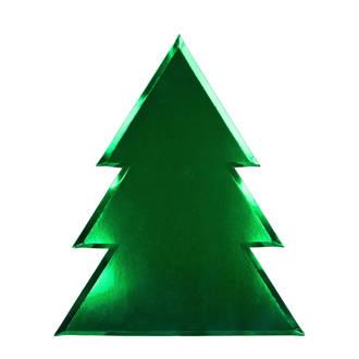 papieren bord kerstboom (set van 8)