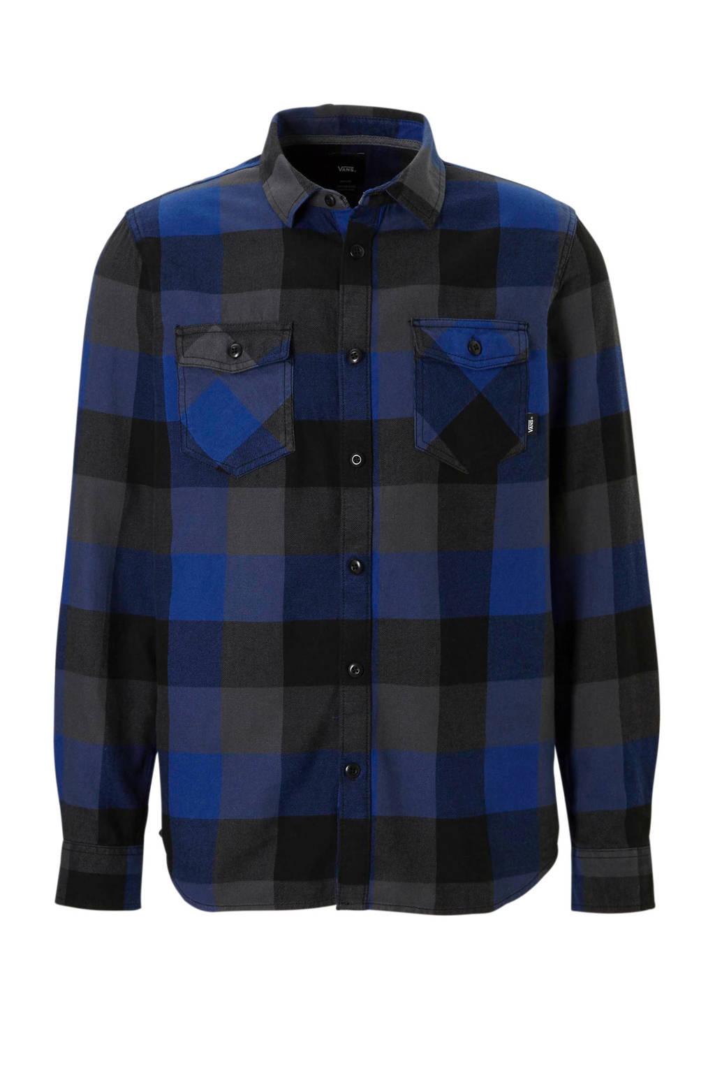 VANS overhemd, Blauw/zwart