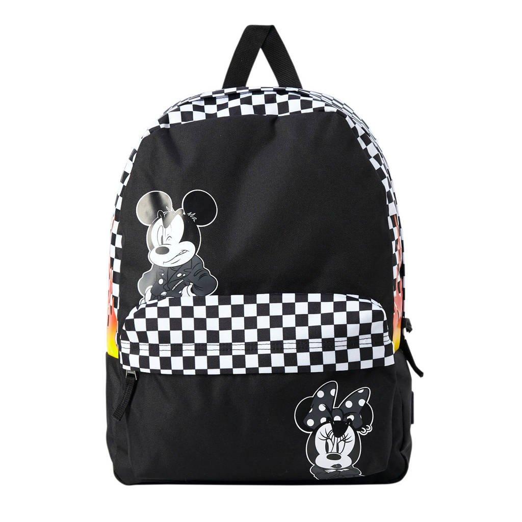 VANS Disney rugzak zwart, Zwart/wit