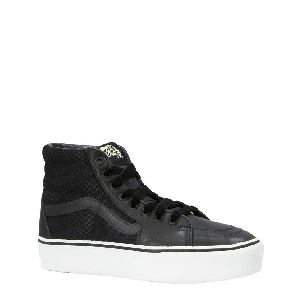 c9c59816d2c VANS Sk8-Hi Platform 2.0 leren sneakers zwart | wehkamp