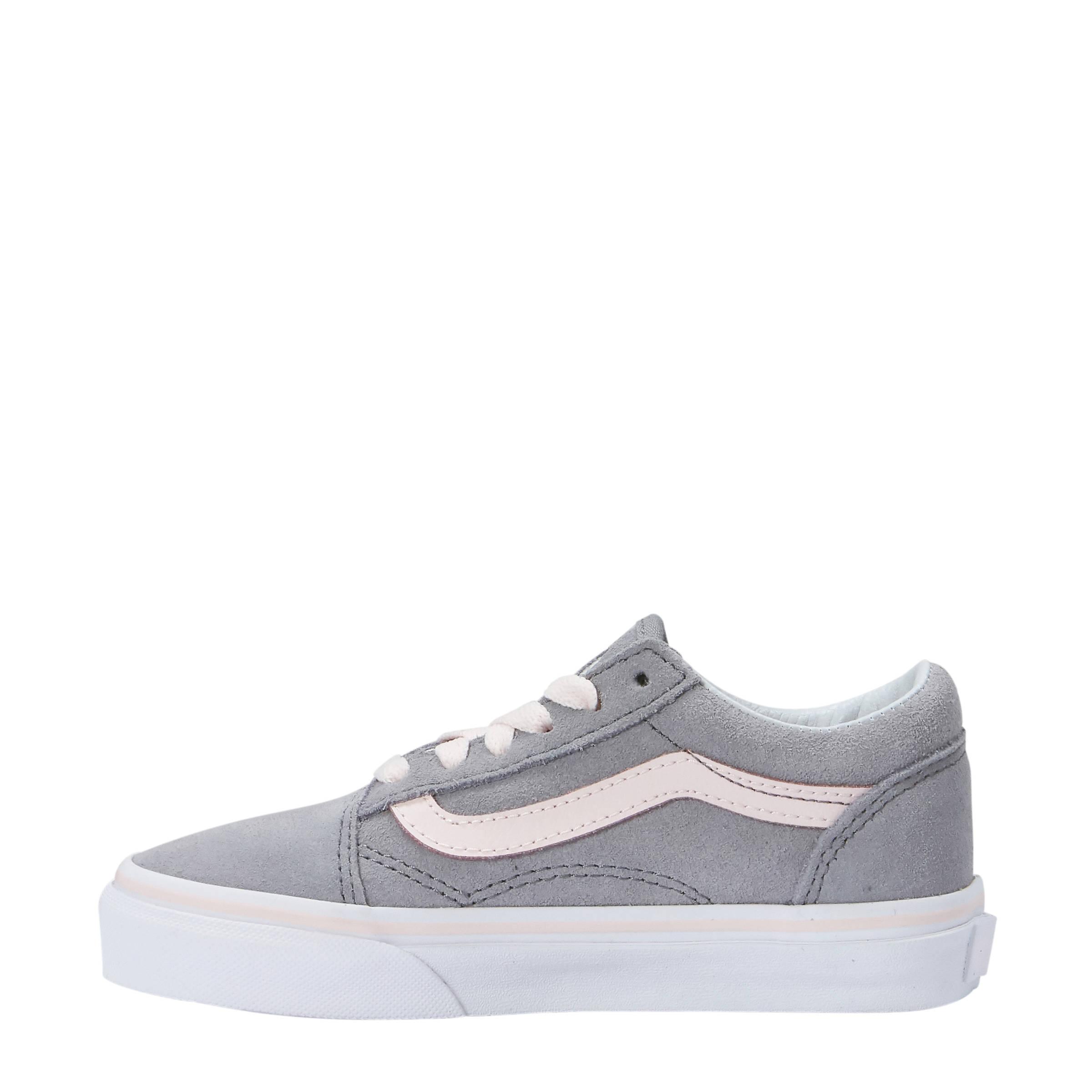 e7aef25d04c VANS Old Skool suède sneakers grijs/lichtroze | wehkamp