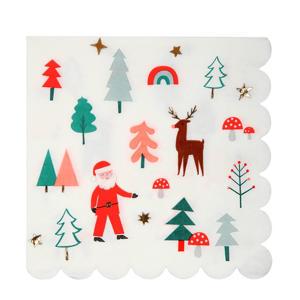 papieren servetten kerst icons (set van 16)
