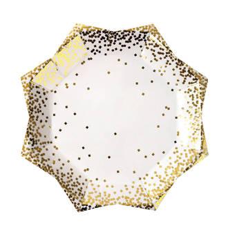 papieren bord confetti (set van 8)