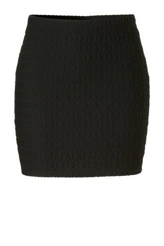 rok met patroon zwart