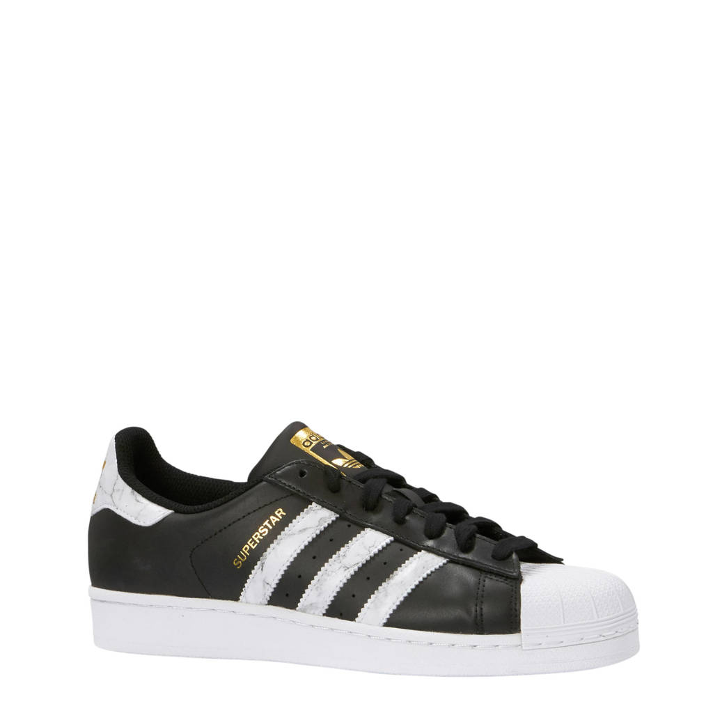adidas originals  Superstar sneakers, Zwart/wit marmer