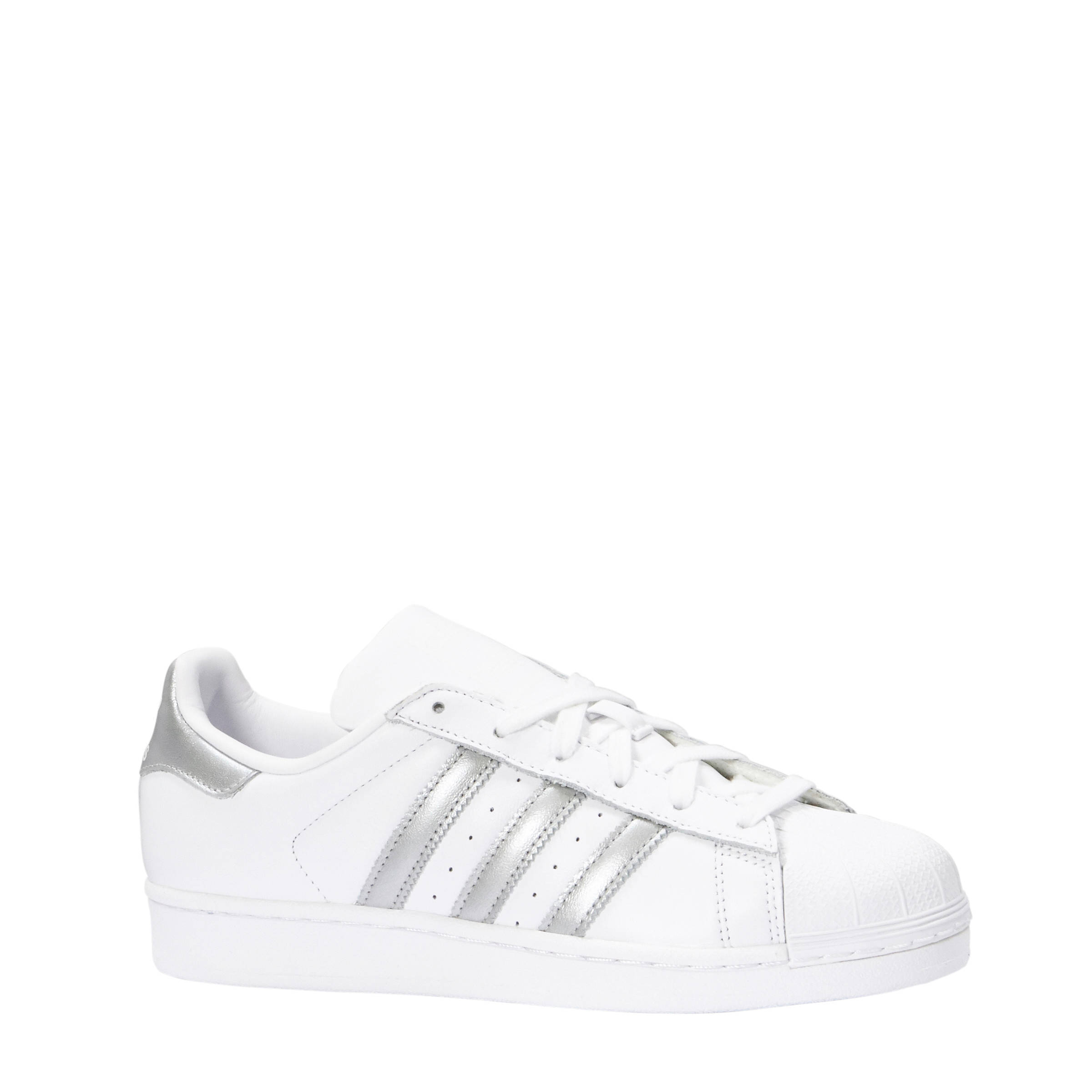 online retailer 20705 4c8a2 adidas originals Superstar W sneakers wit zilver   wehkamp