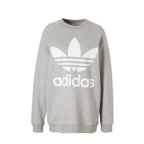 oversized sweater lichtgrijs