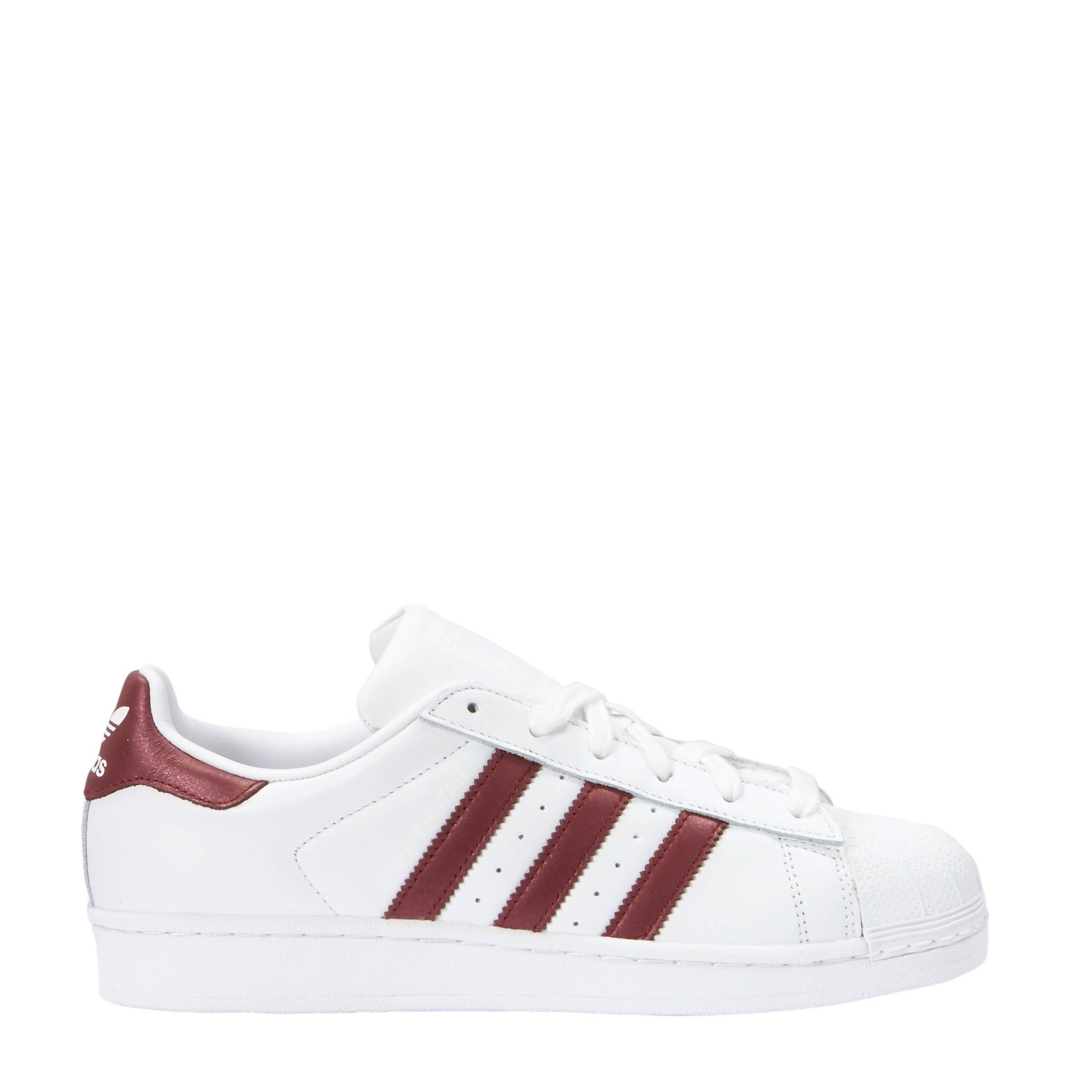 Adidas Witbordeauxrood Sneakers Originals Wehkamp Superstar BqUvSnxB