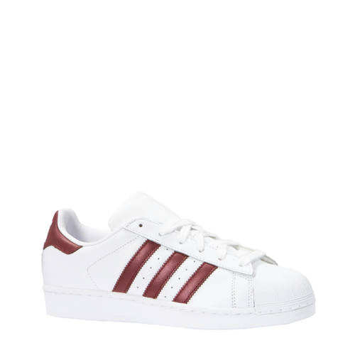 Superstar sneakers wit-bordeauxrood