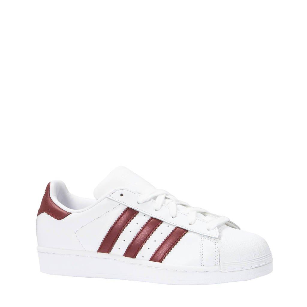 392910113d0 adidas originals Superstar sneakers wit/bordeauxrood, Wit/bordeauxrood