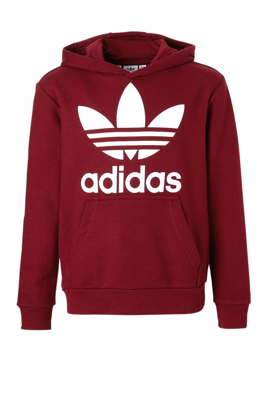 46d8cc2234a adidas originals hoodie bordeauxrood, Donkerrood