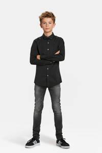 WE Fashion overhemd zwart met vlinderstrik, Zwart