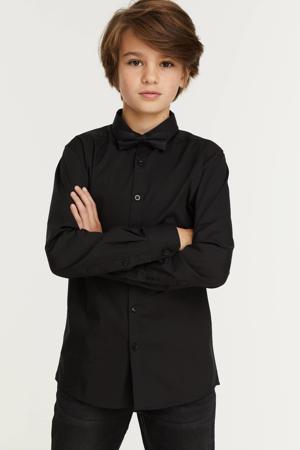overhemd zwart met vlinderstrik