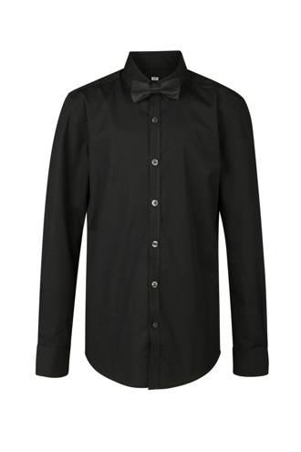 overhemd + vlinderstrik zwart