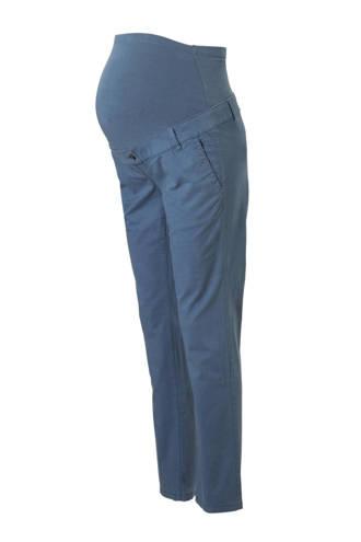 Yessica positie straight fit broek blauw