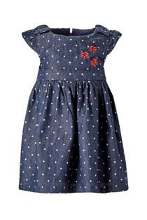 C&A Baby Club jurk met stippen donkerblauw
