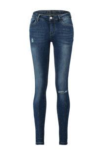 CoolCat skinny jeans met destroyed detail blauw (dames)