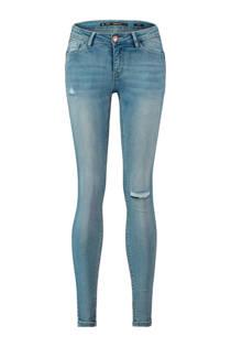 CoolCat skinny jeans met destroyed detail lichtblauw (dames)