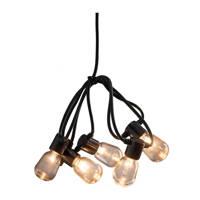 Konstsmide lichtsnoer extra warm wit (40 lampen), Zwart