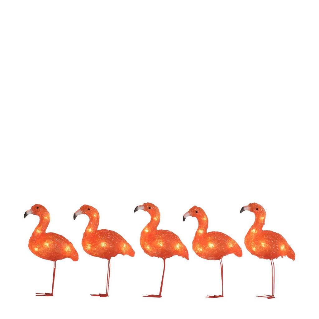 Konstsmide lichtsnoer flamingo (8 lampen), Oranje