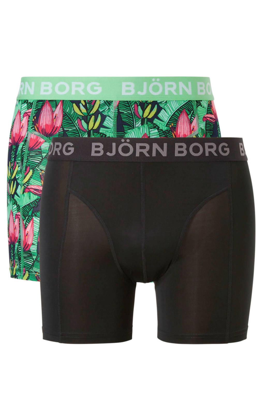 Björn Borg boxershort (set van 2), Zwart/groen/roze