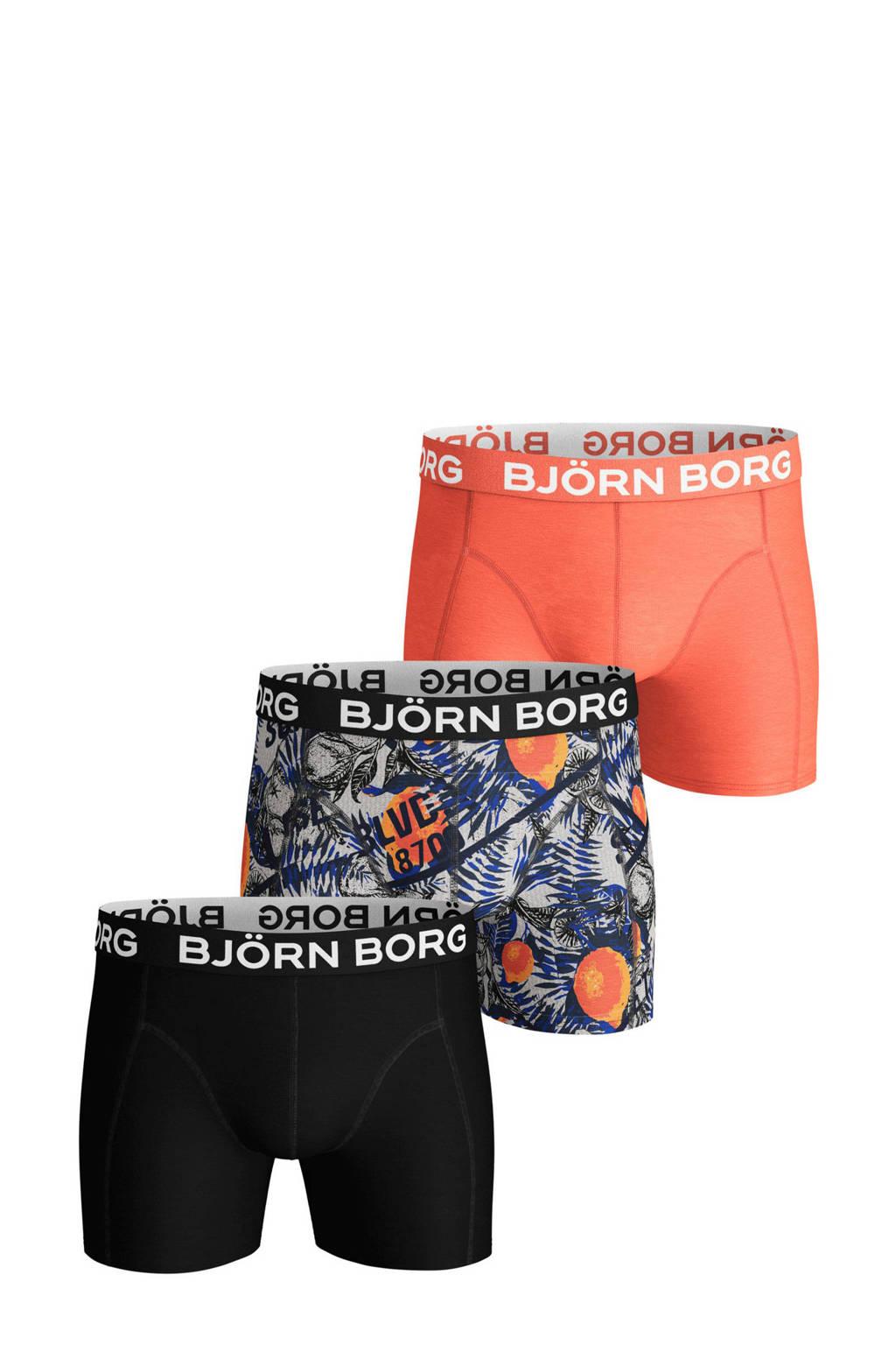 Björn Borg boxershort (set van 3), Marine/roze/zwart