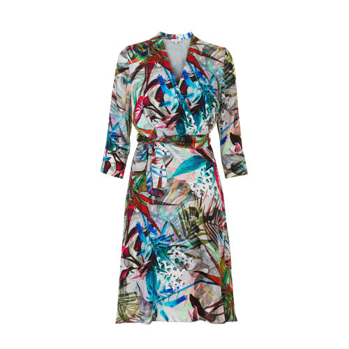 jurk met print ecru