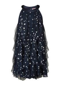 WE Fashion jurk met sterren blauw