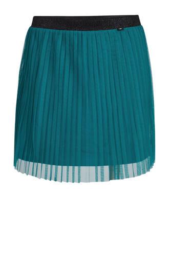 plissé rok turquoise