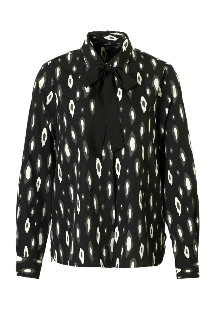 detail met strik geprinte VERO blouse MODA all over wCq0SA