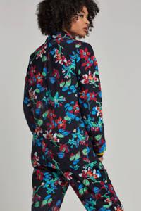 VERO MODA gebloemde blazer, Zwart/roze/blauw/groen