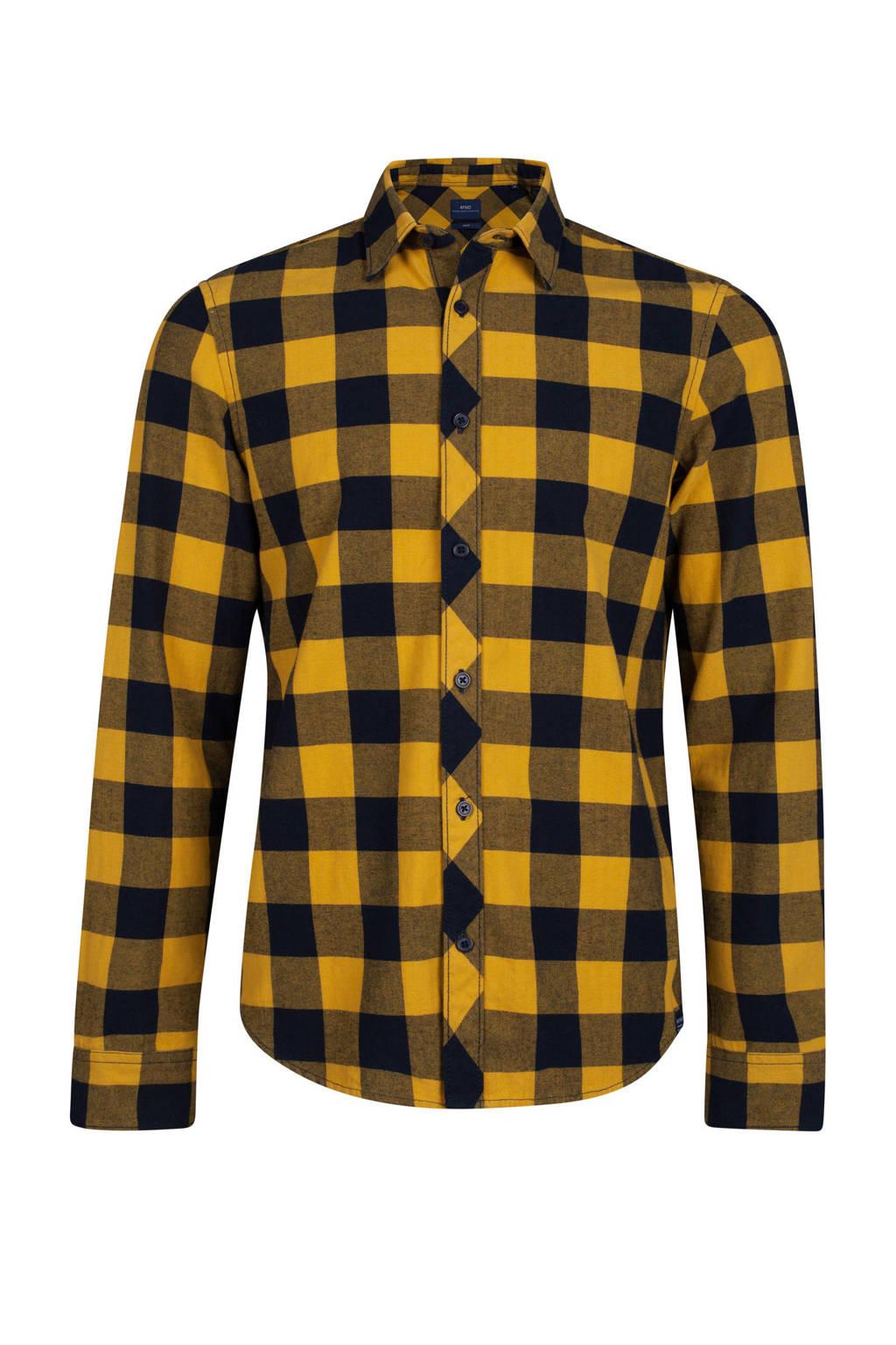 Geel Overhemd.We Fashion Geblokt Slim Fit Overhemd Geel Wehkamp