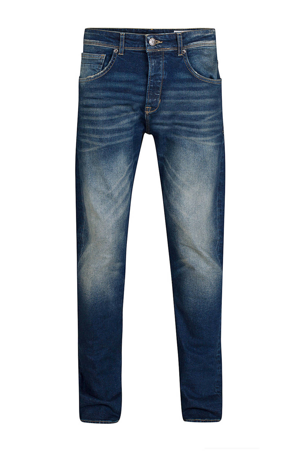 WE Fashion Blue Ridge relaxed tapered comfort stretch jeans, Used denim