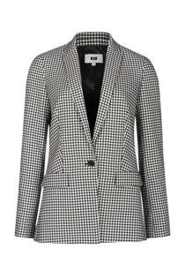 WE Fashion geruite slim fit blazer zwart (dames)