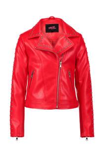 CoolCat jas van imitatieleer rood (meisjes)