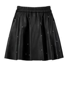 rok van imitatieleer zwart