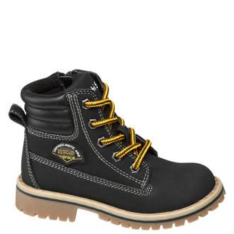 vanHaren Bobbi-Shoes veterboots zwart