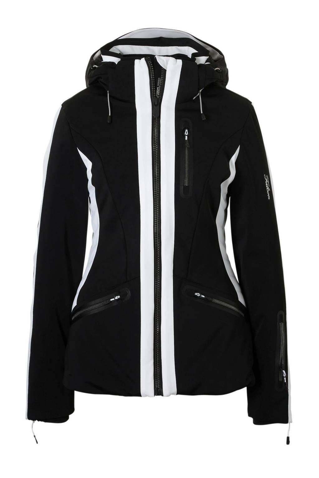 Falcon ski-jack Tebulo zwart, Zwart/wit