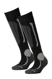 Falcon skisokken (set van 2), Zwart/grijs