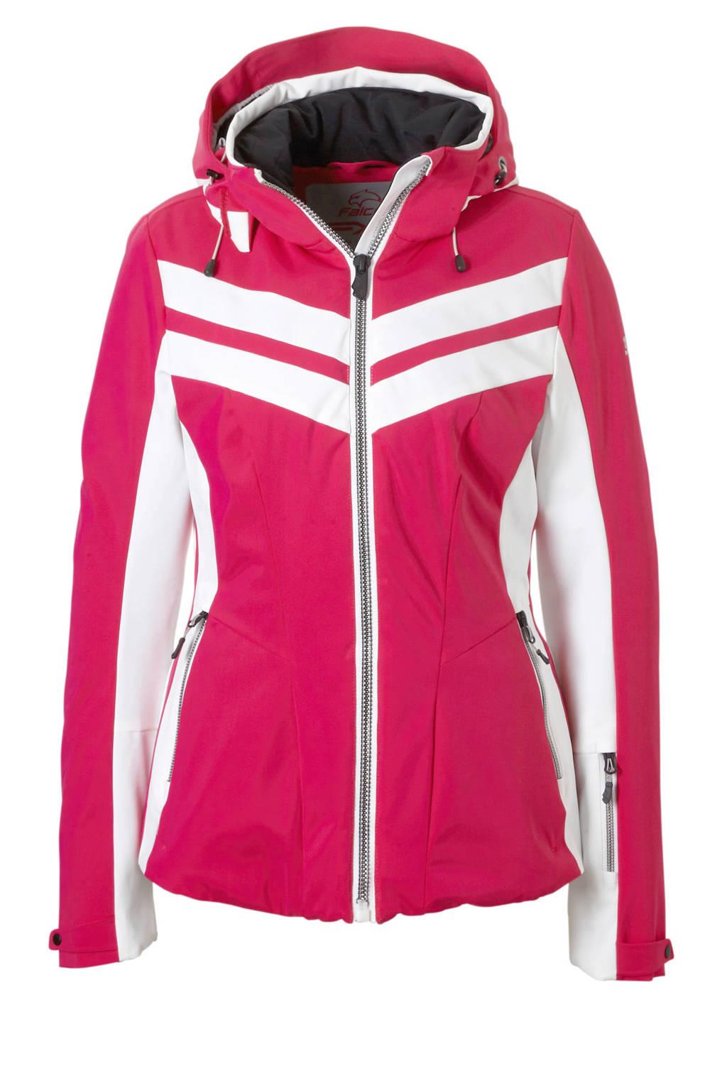 Falcon ski-jack Telica roze, Roze/wit
