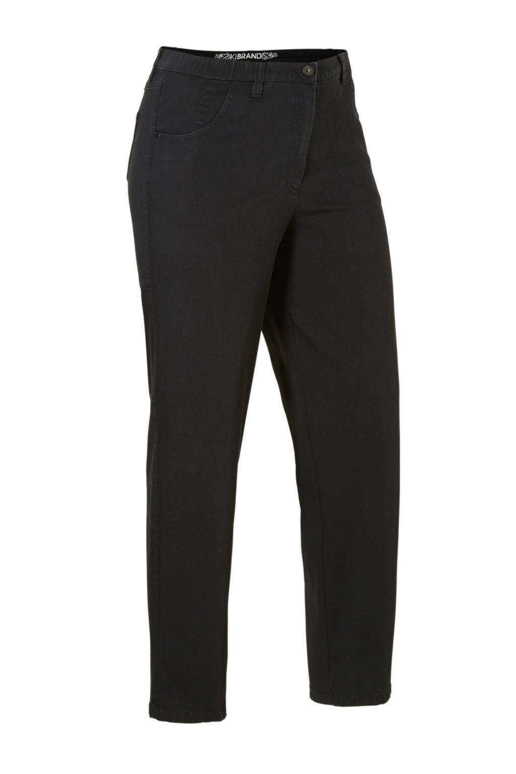 KjBRAND loose fit jeans Babsie met wol zwart, Zwart