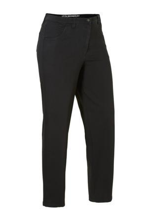 loose fit jeans met wol zwart