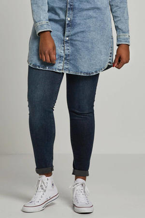 slim fit jeans Betty met wol blauw denim
