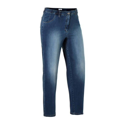 KjBRAND slim fit jeans Betty met wol blauw denim